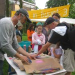 Workshop Graffiti T-shirts, Buurtcamping Slotermeer.